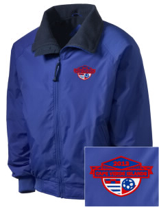 Cape Verde Islands Soccer Embroidered Men's Fleece-Lined Jacket