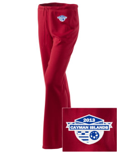 Cayman Islands Soccer Embroidered Women's Mesh Knit Pants
