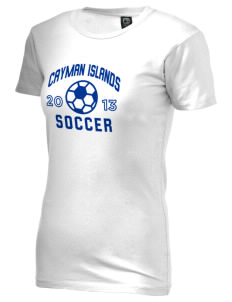Cayman Islands Soccer Alternative Women's Basic Crew T-Shirt