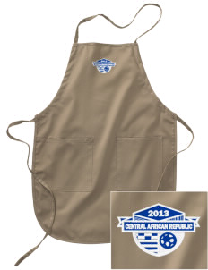 Central African Republic Soccer Embroidered Full Length Apron