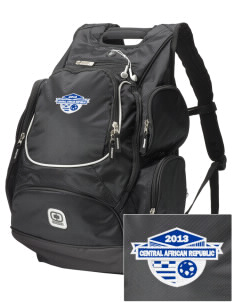 Central African Republic Soccer  Embroidered OGIO Bounty Hunter Backpack