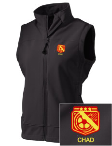 Chad Soccer  Embroidered Women's Glacier Soft Shell Vest