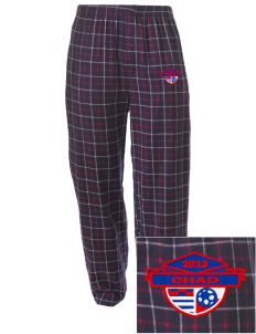 Chad Soccer Embroidered Men's Button-Fly Collegiate Flannel Pant