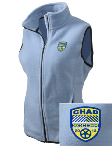 Chad Soccer Embroidered Women's Fleece Vest