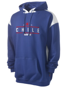 Chile Soccer Men's Pullover Hooded Sweatshirt with Contrast Color