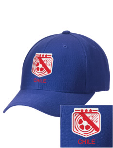 Chile Soccer Embroidered Wool Adjustable Cap