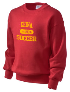 China Soccer Kid's Crewneck Sweatshirt