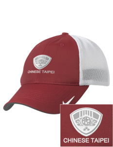 Chinese Taipei Soccer Embroidered Nike Golf Mesh Back Cap