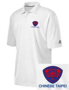 Chinese Taipei Soccer Embroidered Russell Coaches Core Polo Shirt