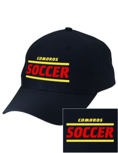 Comoros Soccer Embroidered Low-Profile Cap