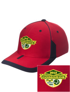 Comoros Soccer Embroidered M2 Universal Fitted Contrast Cap