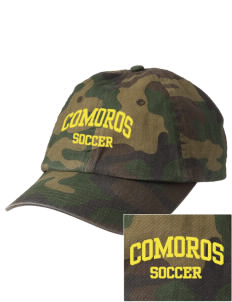 Comoros Soccer Embroidered Camouflage Cotton Cap