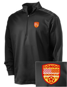 Congo Soccer Embroidered Nike Men's Golf Dri-Fit 1/2 Zip