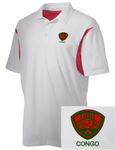 Congo Soccer Embroidered Men's Back Blocked Micro Pique Polo