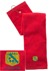 Congo DR Soccer Embroidered Hand Towel with Grommet