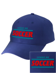 Congo DR Soccer Embroidered Low-Profile Cap