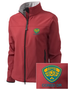Congo DR Soccer Embroidered Women's Glacier Soft Shell Jacket