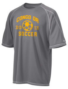 Congo DR Soccer Champion Men's 4.1 oz Double Dry Odor Resistance T-Shirt