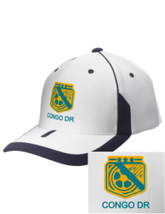 Congo DR Soccer Embroidered M2 Universal Fitted Contrast Cap