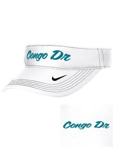 Congo DR Soccer Embroidered Nike Golf Dri-Fit Swoosh Visor