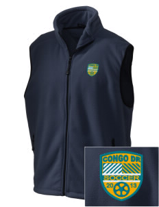 Congo DR Soccer Embroidered Unisex Wintercept Fleece Vest