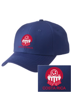 Costa Rica Soccer  Embroidered New Era Adjustable Structured Cap