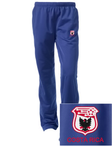 Costa Rica Soccer Embroidered Women's Tricot Track Pants