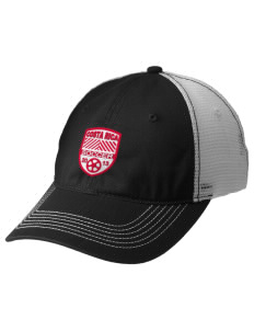 Costa Rica Soccer Embroidered Mesh Back Cap