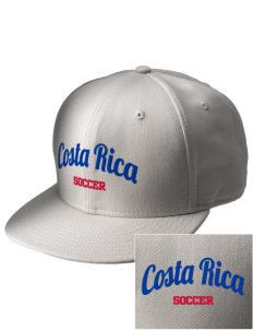 Costa Rica Soccer  Embroidered New Era Flat Bill Snapback Cap