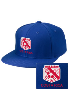Costa Rica Soccer Embroidered Diamond Series Fitted Cap