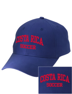 Costa Rica Soccer Embroidered Low-Profile Cap