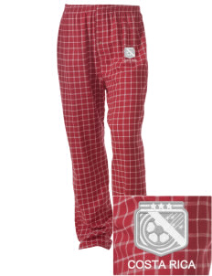 Costa Rica Soccer Embroidered Unisex Button-Fly Collegiate Flannel Pant
