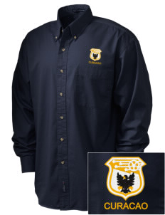 Curacao Soccer Embroidered Men's Twill Shirt