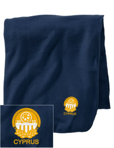 Cyprus Soccer Embroidered Holloway Stadium Fleece Blanket