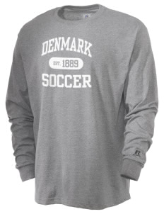 Denmark Soccer  Russell Men's Long Sleeve T-Shirt