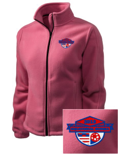 Equatorial Guinea Soccer Embroidered Women's Fleece Full-Zip Jacket
