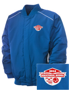 Equatorial Guinea Soccer Embroidered Russell Men's Baseball Jacket