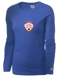 Gambia Soccer  Russell Women's Long Sleeve Campus T-Shirt
