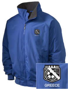 Greece Soccer Embroidered Holloway Men's Tall Jacket