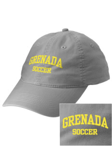 Grenada Soccer Embroidered Vintage Adjustable Cap