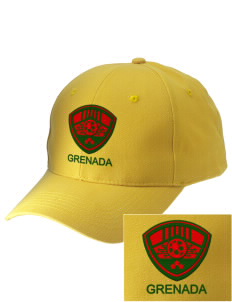 Grenada Soccer Embroidered Low-Profile Cap