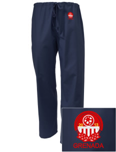 Grenada Soccer Embroidered Scrub Pants
