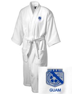 Guam Soccer Embroidered Terry Velour Robe