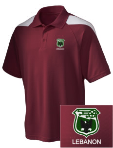 Lebanon Soccer Embroidered Holloway Men's Frequency Performance Pique Polo