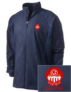 Malaysia Soccer Embroidered Men's Nike Golf Full Zip Wind Jacket