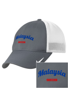 Malaysia Soccer Embroidered Nike Golf Mesh Back Cap