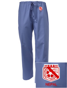 Nepal Soccer Embroidered Scrub Pants