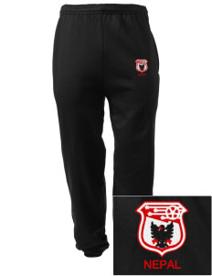 Nepal Soccer Embroidered Men's Sweatpants with Pockets