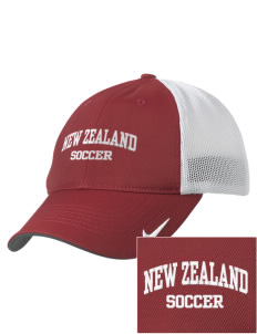 New Zealand Soccer Embroidered Nike Golf Mesh Back Cap