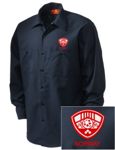 Norway Soccer Embroidered Men's Industrial Work Shirt - Regular